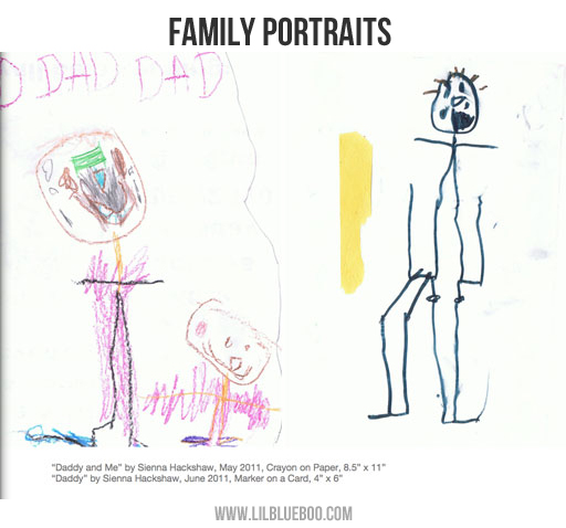 Photo Book Ideas: Kid's Artwork via lilblueboo.com
