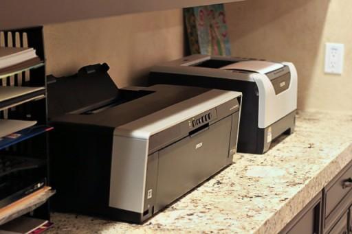Printer and Printing Area via lilblueboo.com