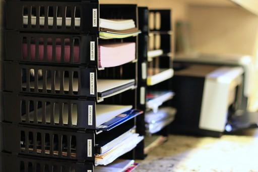 Paper Storage via lilblueboo.com