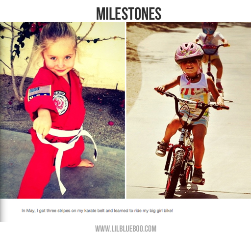 Photo Book Ideas: Documenting Milestones via lilblueboo.com