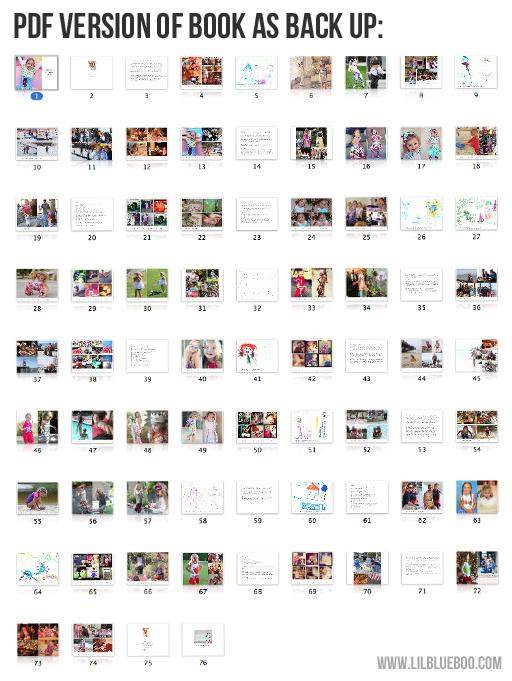 Make sure to back up photo book as a PDF via lilblueboo.com