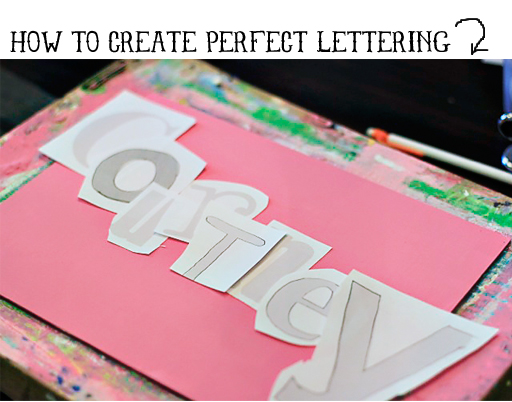 How to Paint Perfect Letters via lilblueboo.com