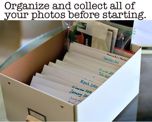 Tips for Organizing Family Photos via lilblueboo.com