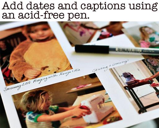 Acid Free Pens for Photo Albums via lilblueboo.com
