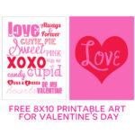 Valentine's Day 8x10 Art Printables