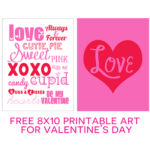 Valentine's Day 8x10 Art Printables