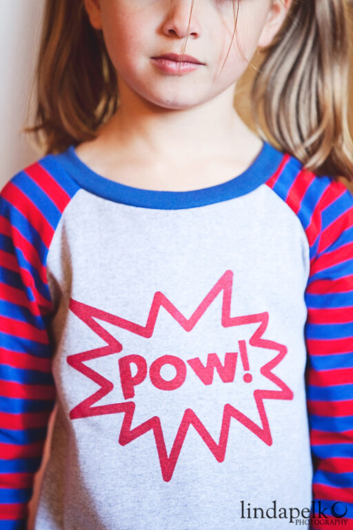 Pow! Super Hero in Training Dress at lilblueboo.com