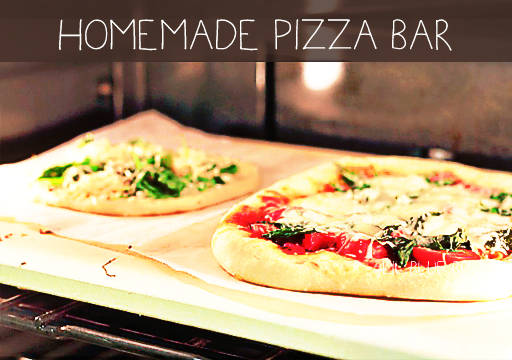 Homemade pizza bar (and a few recipes) via lilblueboo.com