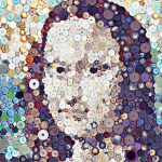 Mona Lisa Button Art via lilblueboo.com