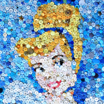 Cinderella Button Art via lilblueboo.com