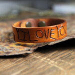 Carved Leather Cuff