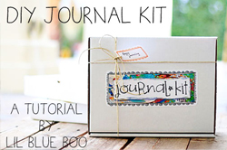 diy journal kit with free download via lilblueboo.com