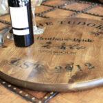 DIY Wine Barrel Tray
