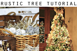 how to make a rustic tree via lilblueboo.com
