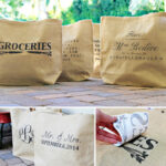 DIY Personalized Burlap Bags