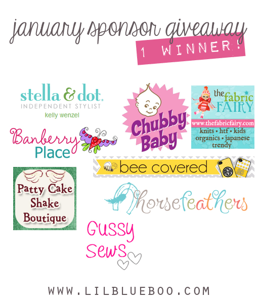 I want to win the big January Sponsor Giveaway at lilblueboo.com