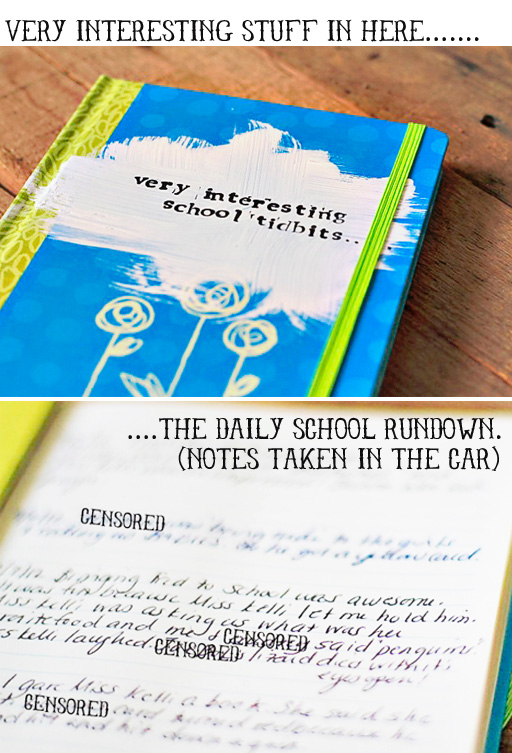 A School Journal (Keep in the Car) via lilblueboo.com