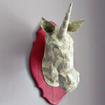 Paper Mache Animal Head