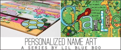 peronalized name art via lilblueboo.com