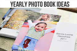 yearly photo book ideas via lilblueboo.com