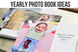 yearly photo book ideas via lilblueboo.com