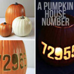 DIY Pumpkin House Number via lilblueboo.com