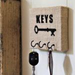 Burlap Key Holder