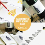 DIY Hand Stamped Party Decor via lilblueboo.com