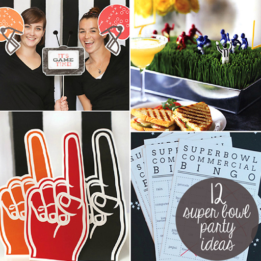 Super Bowl Football Party Ideas via lilblueboo.com