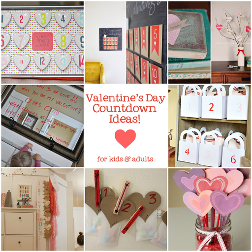 12 Fun Ways to Countdown to Valentine's Day via lilblueboo.com