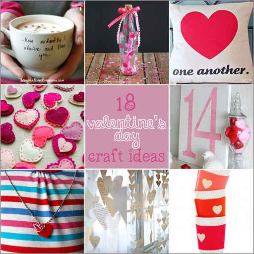 Valenine's Day DIY Craft Ideas via lilblueboo.com