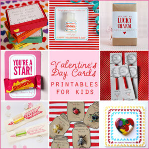 valentine's day card free printables for kids @lilblueboo