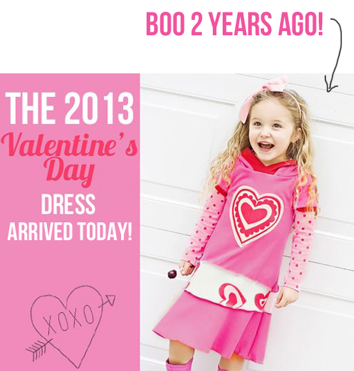 Handmade Valentine's Day Dress (limited quantities) via lilblueboo.com