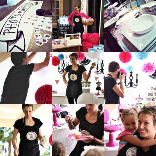 Behind the Scenes: A Beauty Salon Glam Birthday Party with Mini Doll Salon via lilblueboo.com