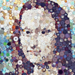 Mona Lisa Button Art