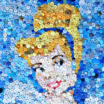 Cinderella Button Art