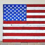 Pallet American Flag Stencil