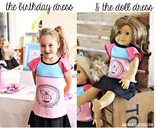 "Matching Girl and 18"" American Girl Doll Dresses via lilblueboo.com #americangirl #ourgeneration"