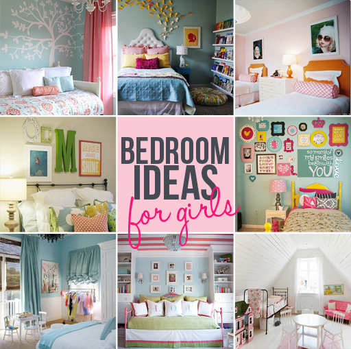 girls bedroom decor ideas via lilblueboo.com
