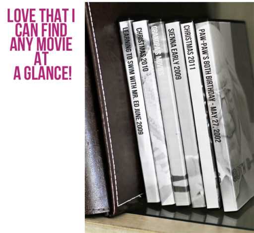 Home Movie Library via lilblueboo.com