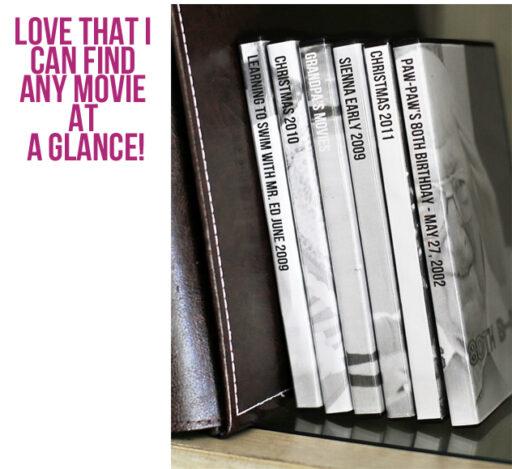 Home Movie Library via lilblueboo.com