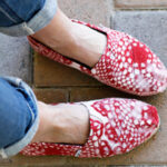 Painted Toms with Doily Stencil