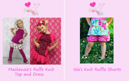 Sewing patters from Create Kids Couture now available at lilblueboo.com