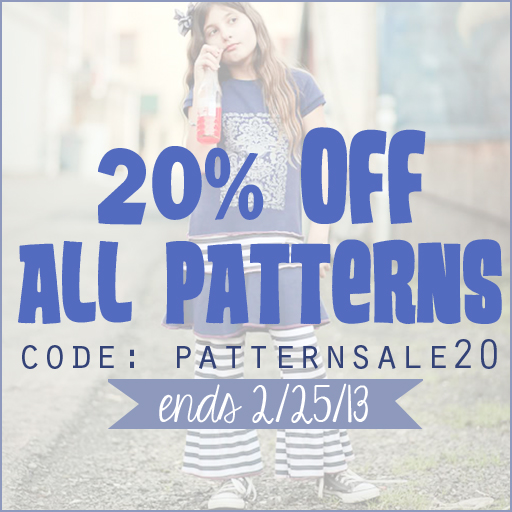 PDF Sewing Pattern Sale via lilblueboo.com