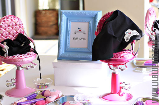 The Doll Salon Station: Lil Blue Boo's Top 10 DIY Party Tips and Behind the Scenes via lilblueboo.com