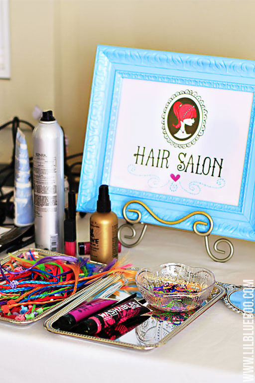The Hair Salon: Lil Blue Boo's Top 10 DIY Party Tips and Behind the Scenes via lilblueboo.com