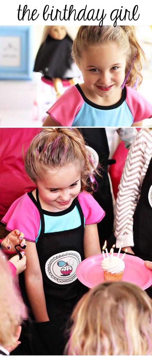 Birthday Dress for Salon Party via lilblueboo.com #americangirl #party #diy