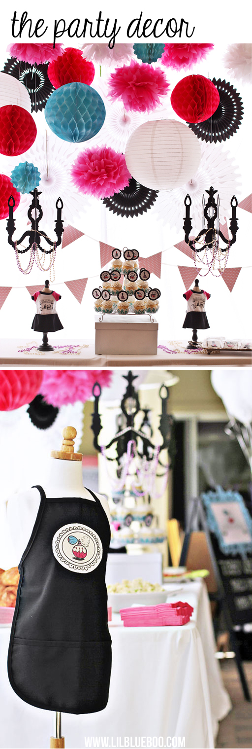 Party Decor: Beauty Salon Party (with American Girl Salon too!) via lilblueboo.com #americangirl #party #diy