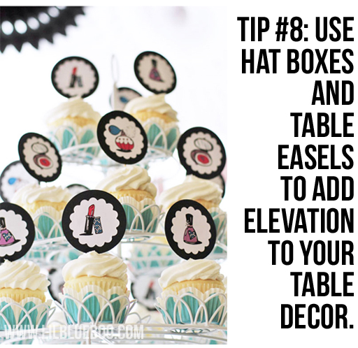 Use Hat Boxes: Lil Blue Boo's Top 10 DIY Party Tips and Behind the Scenes via lilblueboo.com