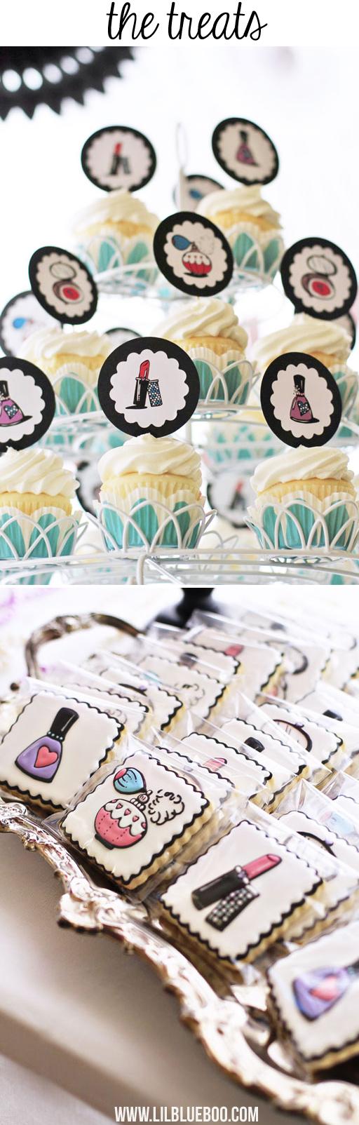 Beauty Salon Party Printables and Supplies via lilblueboo.com #printable #party #americangirl